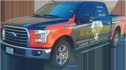 Black Diamond Gutter Installation Truck