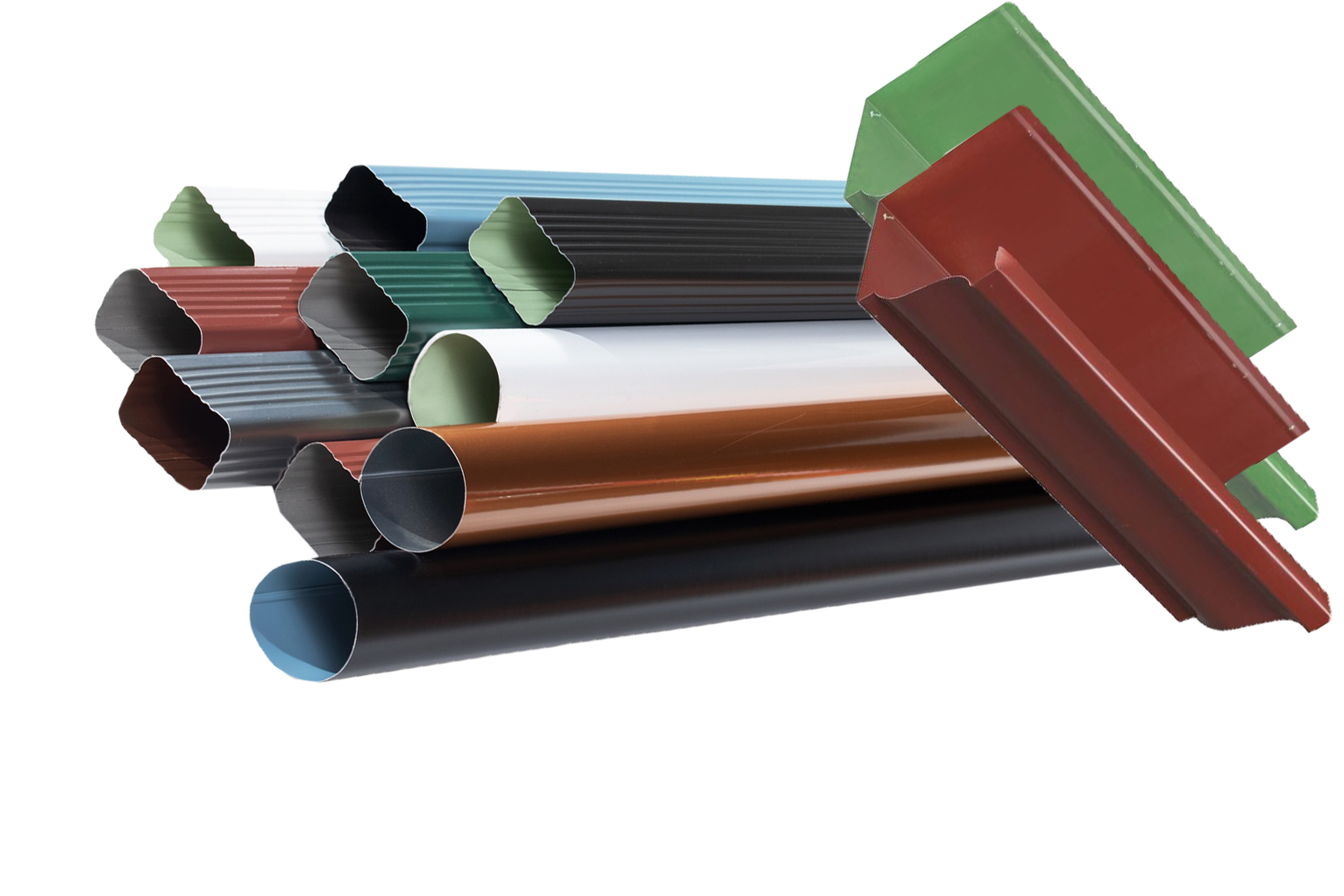 wide variety of gutters in multiple colors