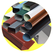 Multi-color Gutters and Downspouts